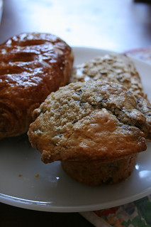 Boysenberry Muffin, Nuts Scone, Chocolate Croissant