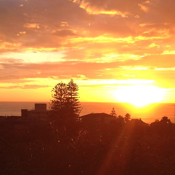 This mornings sunrise, from my verandah.