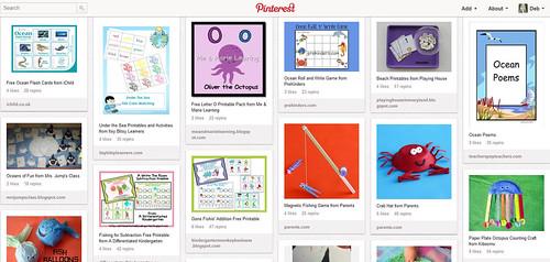 Ocean Unit Study Pinterest Board