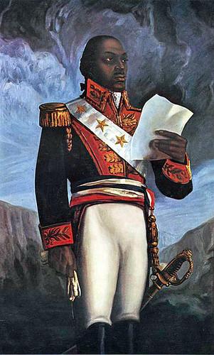 Toussaint Louverture François-Dominique Toussaint Toussaint Louverture (né François-Dominique Toussaint de Bréda le 20 mai 1734 près de Cap-Français, en Haïti, mort le 3 avril 1803 au Fort de Joux, à La Cluse-et-Mijoux dans le Doubs) est le principal diri