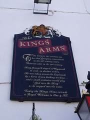 Photo of The Kings Arms, Weymouth and George III black plaque