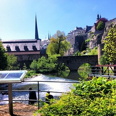 The Grund in Luxembourg ville