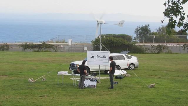 MVI_4438 SLS wind turbine and Spay Mobile at Washington School science night Santa Barbara