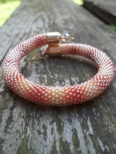 yellow and orange bracelet