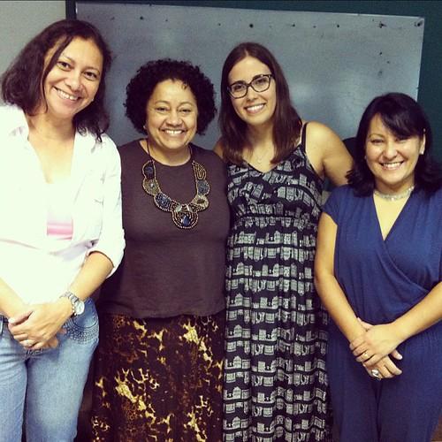 #intercomnorte foto oficial com as debatedoras da mesa Jornalismo 2.0: oportunidades e desafios, na UFT (cc @talitaribeiro)