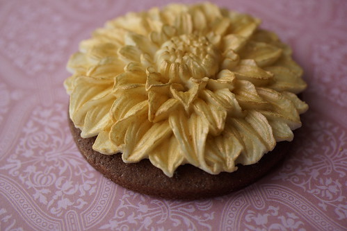 Golden Dahlia Cookie