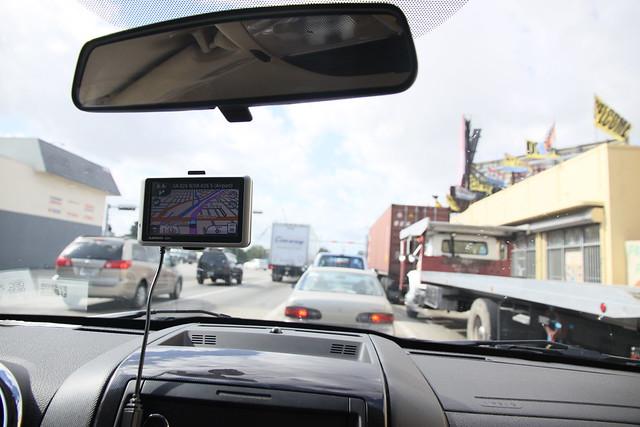 開車 Garmin GPS  Miami市區