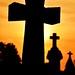 Silhouette Crosses at St. Celestine Catholic Church, Indiana