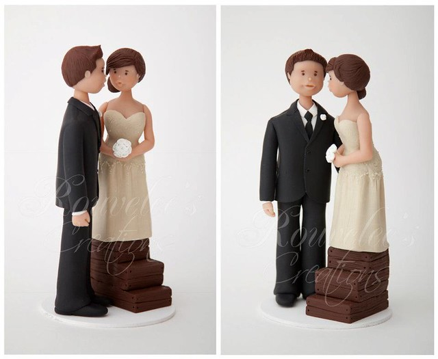 Tall Groom Short Bride Cake Topper
