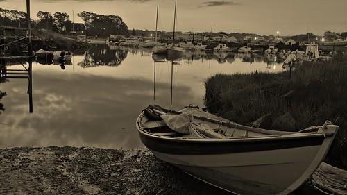 Essex MA at Dawn- 4:40AM 5/24/12 Essex River Basin  by captjoe06