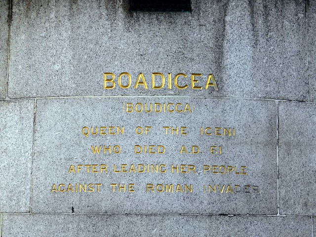 Boudicca Statue: Westminster Bridge, London