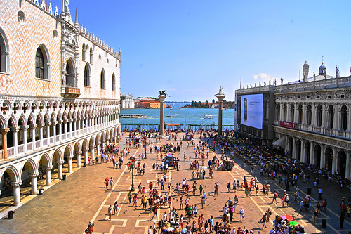 View from the top of St. Mark's Basilica, Venice, Italy