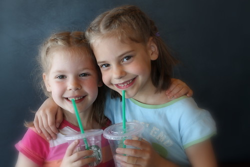 My beautiful daughters, on a girl date with mommy