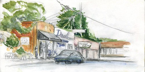 Memorial Day SketchCrawl - from Sellwood Staccato Gelato