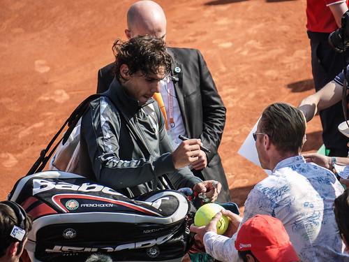 Rafael Nadal dans le 1er tour Roland Garros 2012