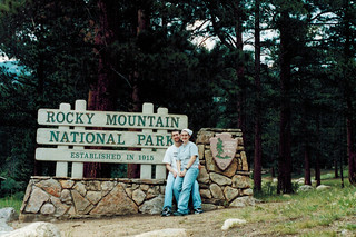 Kevin & Abby with the RMNP Sign