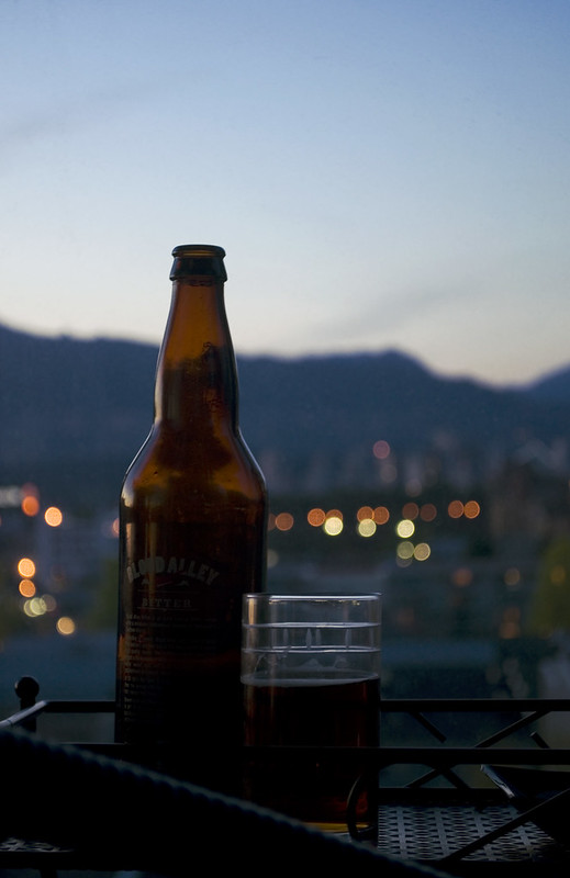 twilight balcony beer