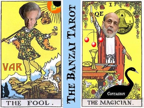 THE BANZAI TAROT (FOOL AND MAGICIAN) by Colonel Flick