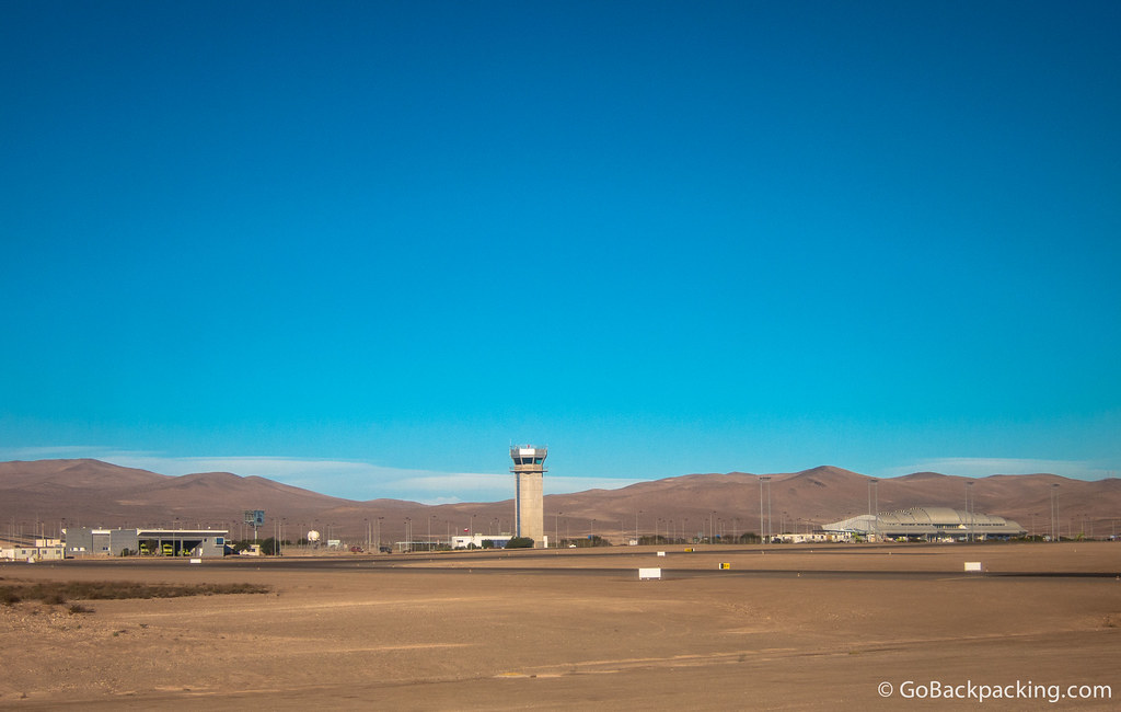 Chamonate Airport outside Copiapo