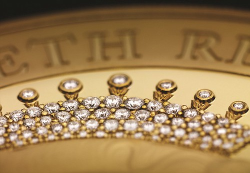 Diamond Encrusted JUbilee coin closeup