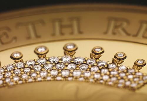 Diamond Encrusted JUbilee coin closeup