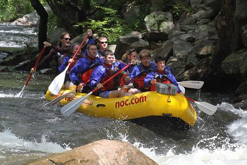 Rafting down the Nantahala