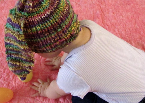 Loom Knit Baby Hat With Ears : Made by telaine been there done hats