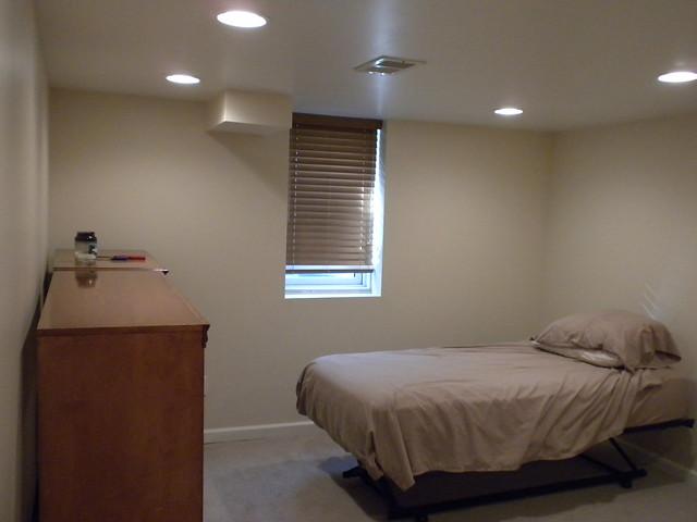 New basement bedroom with egress window flickr photo for Bedroom egress window size