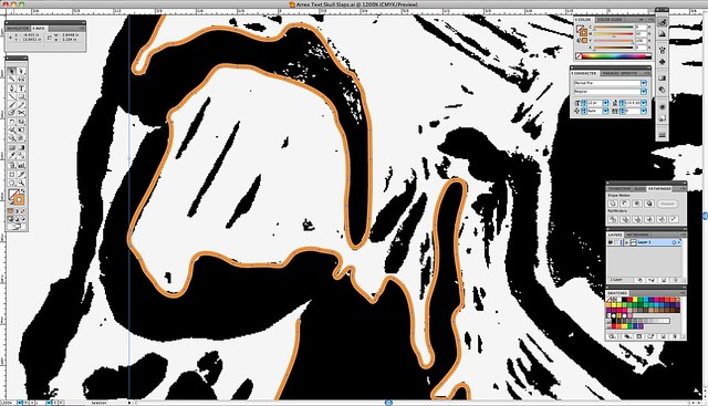 Vectorizing all my woodblock skulls...