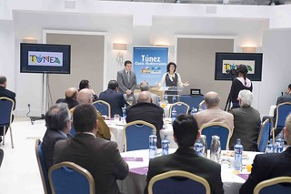 Leila Tekaia, directora de la Oficina de Turismo de Túnez, durante la presentación.