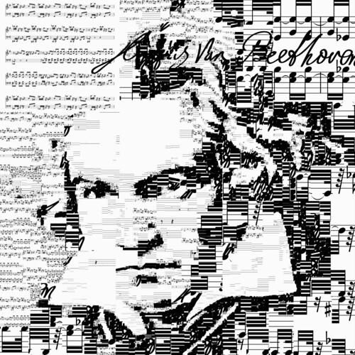 Beethoven self portrait by Sergio Albiac
