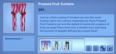 Pressed Fruit Curtains