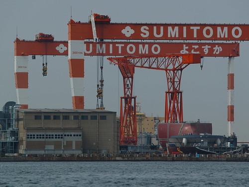 Sumitomo Yokosuka shipyard  by leicadaisuki