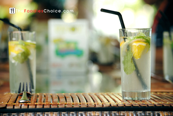 Refreshing Lemon Mint Cooler Welcome Drink at Paradise Garden Boracay