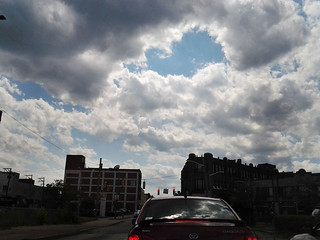 Pittsburgh clouds, Liberty Avenue, Bloomfield