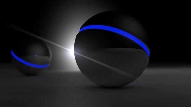 Blue glow