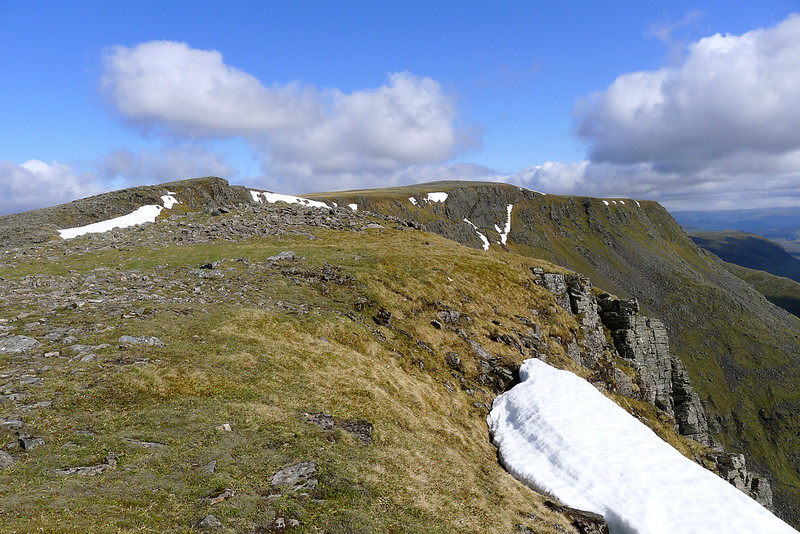 Towards Ben Alder's summit