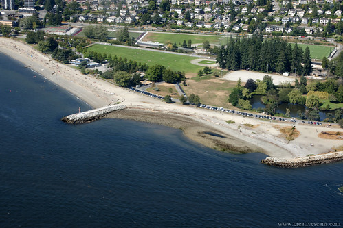 Ambleside Park from the air.