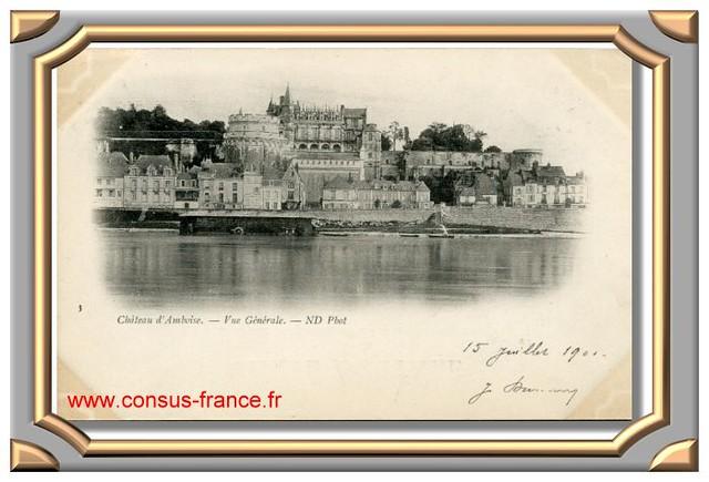 3 Château d'Amboise. - Vue Générale. - ND Phot -70-150