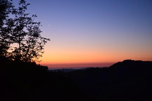 sunset alba luna aurora montagna venere spinello