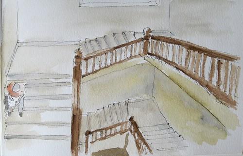 Escaleras palacio de Villalón (Museo tyssen) Málaga