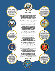 """The Code"" - a poem about the Code of Honor, the legacy of man and women in uniform (please scroll down, click right on the image or on the triple dots to select a larger size if needed)"