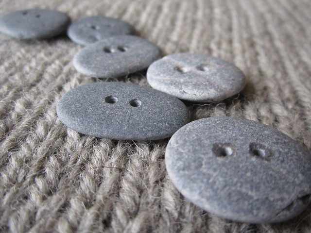 beautiful pebble buttons