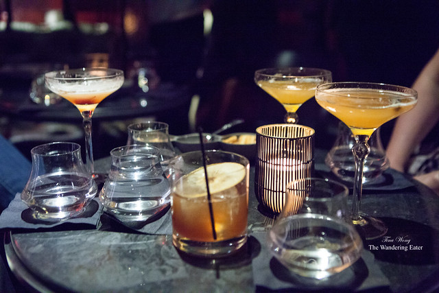 Our table of specialty cocktails