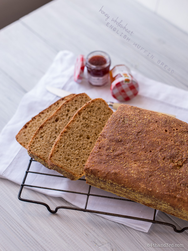 Honey Wholewheat English Muffin Bread