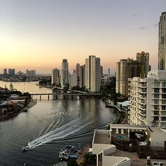 Boats heading home #niceday #dusk #goldcoast #beachlife
