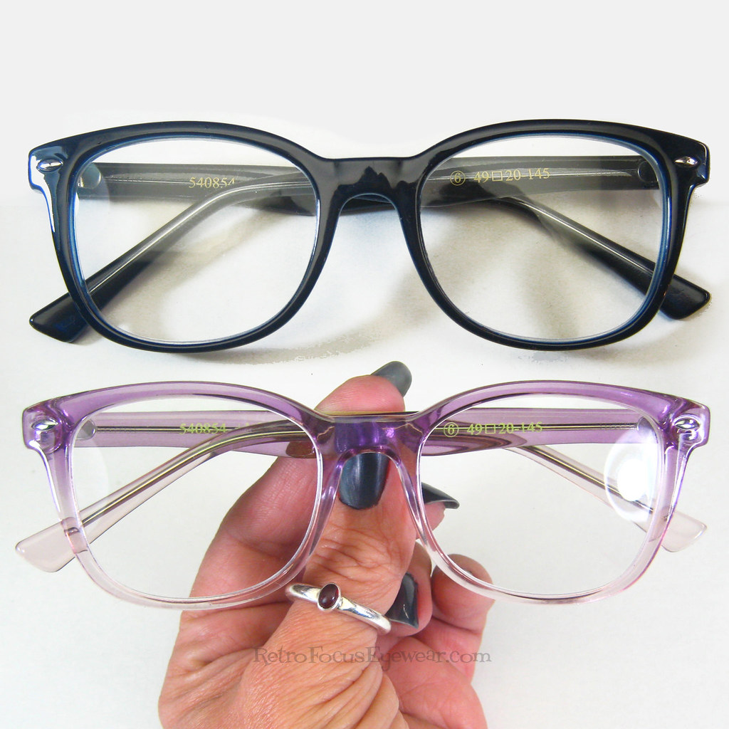 7d1a20a6a45 grunge RAY Hornrim Reading Glasses Hipster Indie Lavender Lilac Light  Purple Fade Navy Blue Eyeglass Frames