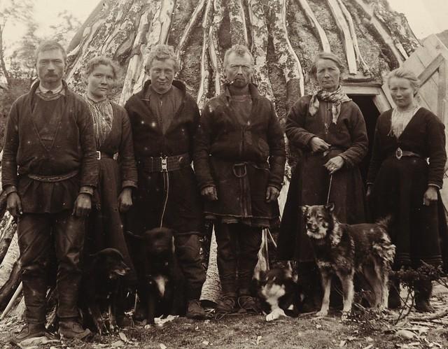 Svenske samer fra Tärna, Västerbotten. Swedish Sami from Tärna, Västerbotten.