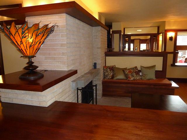 Frank lloyd wright 39 s emil bach house interior flickr for Frank lloyd wright interior designs