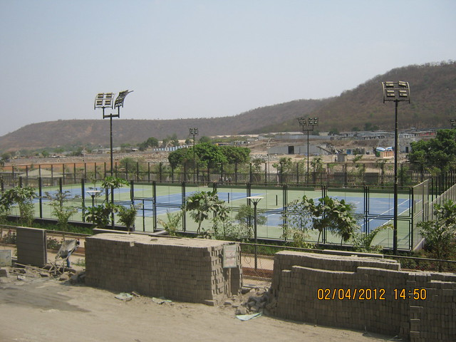 Sunway - Megapolis Smart Homes 2, Hinjewadi Phase 3, Pune 411057 - illuminated tennis courts